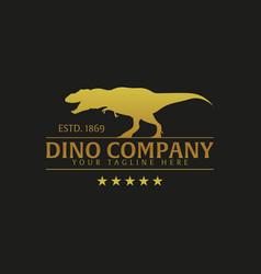 Dino company logo or emblem logo vector