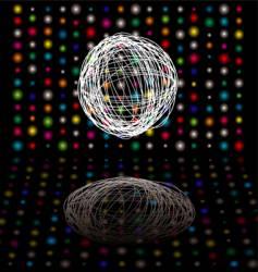 disco scribble vector image vector image