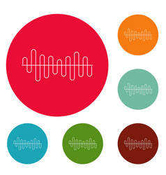 equalizer volume sound icons circle set vector image vector image