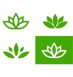 Green lotus set vector image