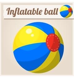 Inflatable beach ball Cartoon vector image