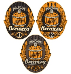 label with a beer vector image