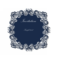 Lace ornamented round frame vector image vector image