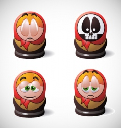 Matryoshka icons vector