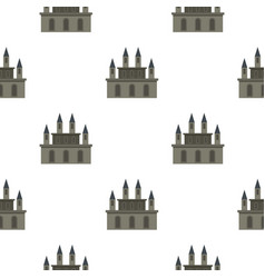 Medieval castle pattern seamless vector