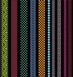 ornamental lines collection vector image vector image
