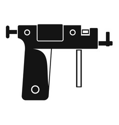 Piercing gun icon simple vector