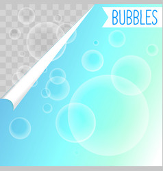 Soap bubbles white shampoo clipart on transparent vector