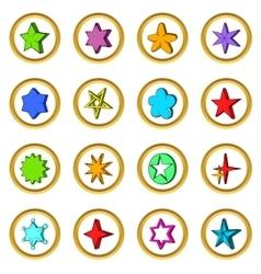 Star set cartoon style vector image