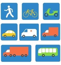 Transportation icons design elements vector