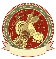 Thanksgiving symbol with holiday objects vector