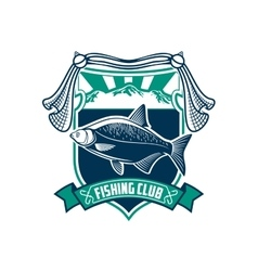 Fishing sport club sign icon vector image