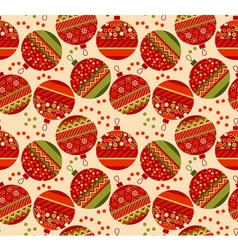 Vintage ornament patchwork xmas bubbles seamless vector