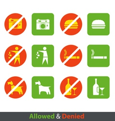 Urban prohibition signs collection isolated on whi vector