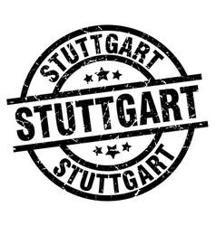 stuttgart black round grunge stamp vector image