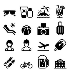 Beach summer icon vector