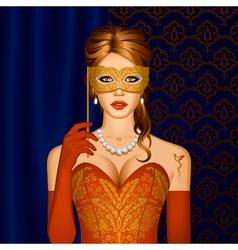 Venetian beauty in a mask vector