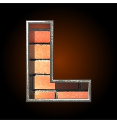 Brick cutted figure l vector