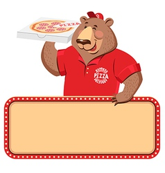 Delivery bear banner vector