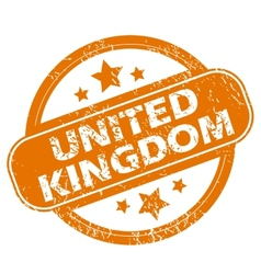 United kingdom grunge icon vector