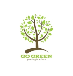 Go green tree logo vector