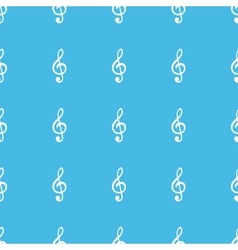 Treble clef straight pattern vector