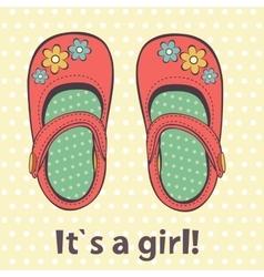 It s a girl cute card of beautiful vector image