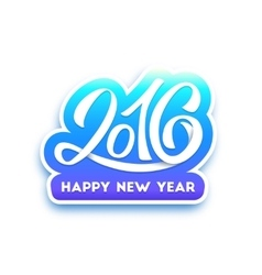 Happy new year 2016 greeting card vector