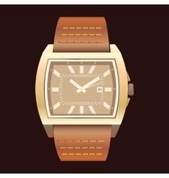 Watches on a dark background vector