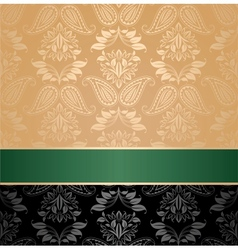 seamless pattern floral decorative background gree vector image