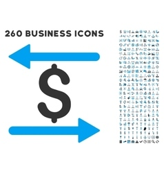 Money transactions icon with flat set vector