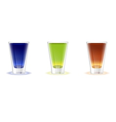 Alcohol shots drinks vector