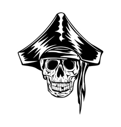 Pirate with bandana and hat vector