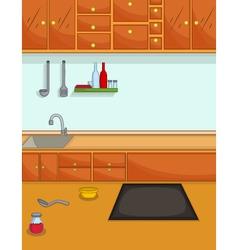 Cute kitchen cartoon for you design vector