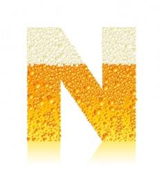 alphabet beer n vector image
