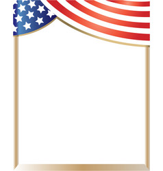 American flag border vector
