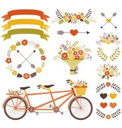 Autumn Wedding Set vector image