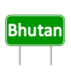 Bhutan road sign vector