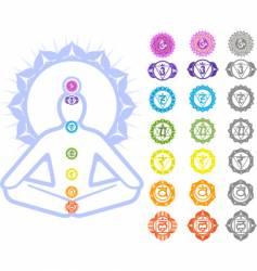 Chakras symbols vector image vector image