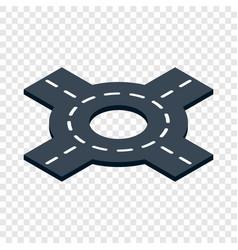 Circular interchange isometric icon vector