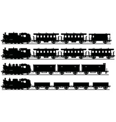 Classic steam trains vector