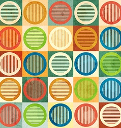 colored circle seamless pattern with grunge effect vector image