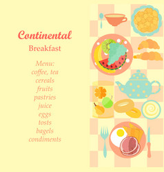 Continental breakfast vector