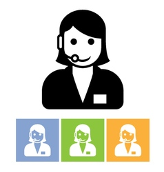 Customer support service icon - call center vector image vector image