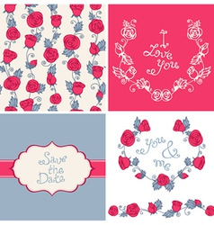 Design elements for romantic design vector image