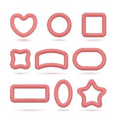 frames lollipops set vector image