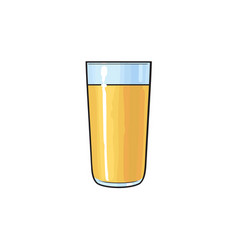 freshly squeezed orange juice in tall glass vector image vector image