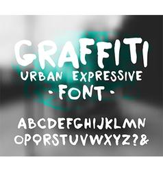 Handwritten brush font graffiti vector