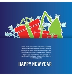 Happy New Year greeting card background vector image vector image