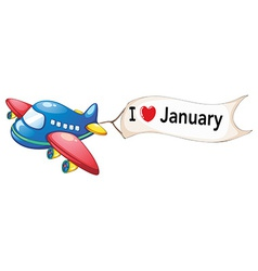 I love january vector image vector image
